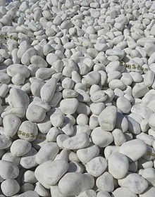 Galets blanc carrara