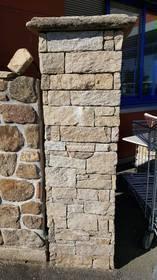 Elément de pilier en pierre à coller